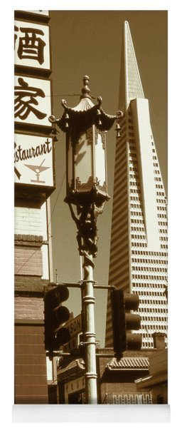 Chinatown San Francisco - Vintage Photo Art Yoga Mat