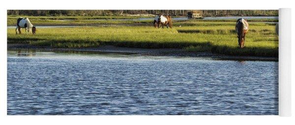 Chincoteague Ponies On Assateague Island Yoga Mat