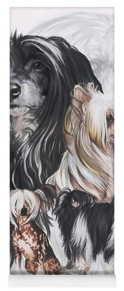 Chinese Crested And Powderpuff Medley Yoga Mat