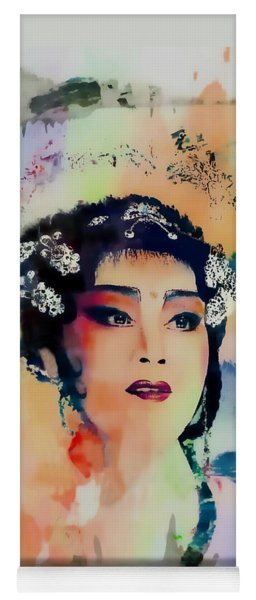 Chinese Cultural Girl - Digital Watercolor  Yoga Mat