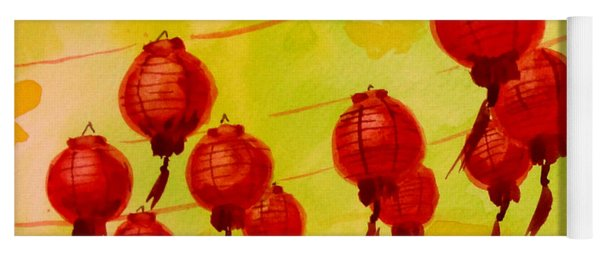 Chinese Lanterns Yoga Mat