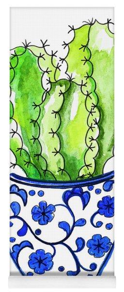 Chinoiserie Cactus No3 Yoga Mat