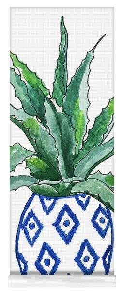 Chinoiserie Cactus Yoga Mat