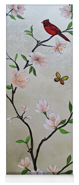 Chinoiserie - Magnolias And Birds #3 Yoga Mat