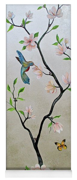Chinoiserie - Magnolias And Birds #5 Yoga Mat