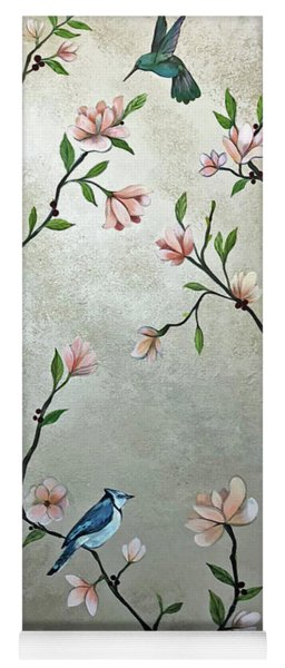 Chinoiserie - Magnolias And Birds Yoga Mat