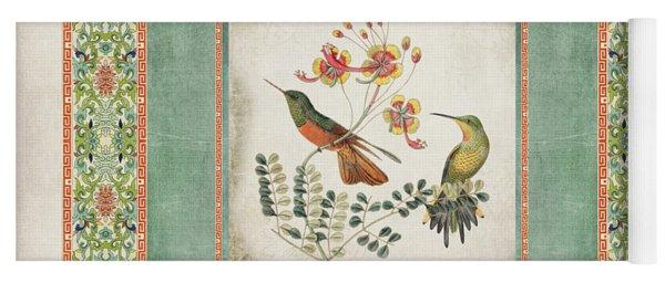Chinoiserie Vintage Hummingbirds N Flowers 1 Yoga Mat