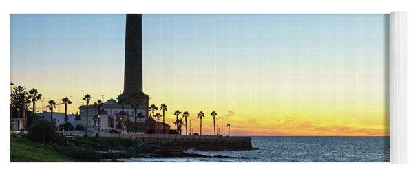 Chipiona Lighthouse Cadiz Spain Yoga Mat