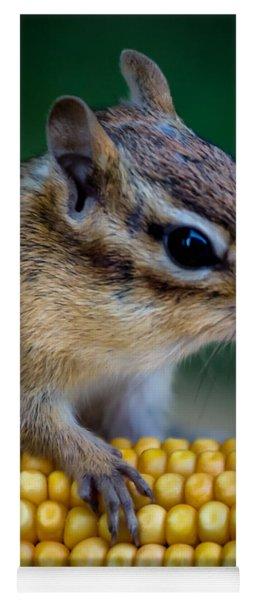 Chipmunk Goes Wild For Corn Yoga Mat