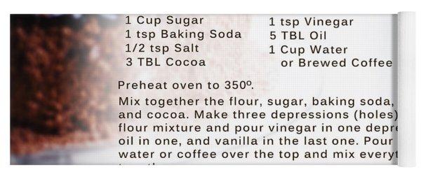 Chocolate Cake Recipe Yoga Mat