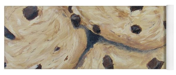 Yoga Mat featuring the painting Chocolate Chip Cookies by Nancy Nale