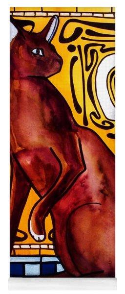 Chocolate Delight - Havana Brown Cat - Cat Art By Dora Hathazi Mendes Yoga Mat