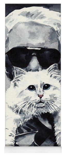 Choupette Cat And Karl Lagerfeld Yoga Mat
