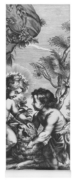 Christ And John The Baptist  Behold The Lamb Of God Yoga Mat