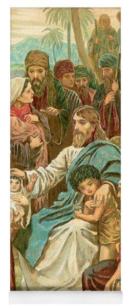 Christ Blessing Little Children Yoga Mat
