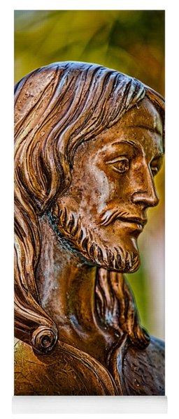 Christ In Bronze Yoga Mat