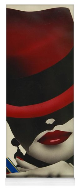 Christion Dior Red Hat Lady Yoga Mat
