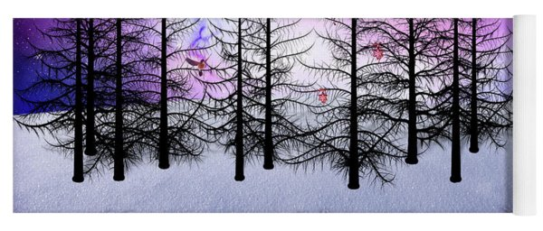 Christmas Bare Trees Yoga Mat