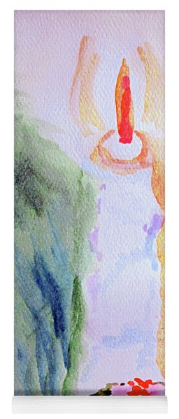 Christmas Candle 1 Yoga Mat