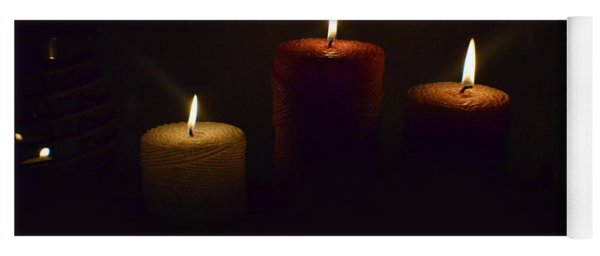 Christmas Candles In The Night Number 4 Yoga Mat