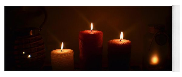 Christmas Candles In The Night Number 5 Yoga Mat