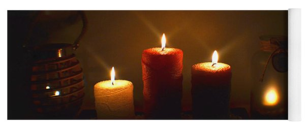 Christmas Candles In The Night Number 3 Yoga Mat