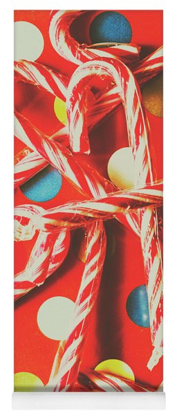 Christmas Candy Canes Yoga Mat