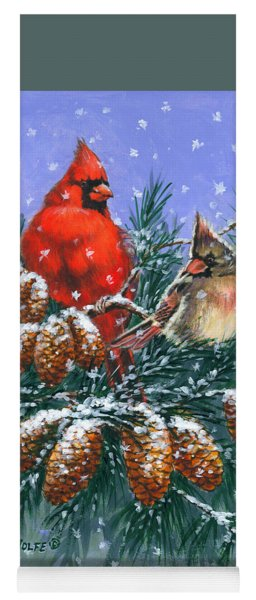 Christmas Cardinals #1 Yoga Mat