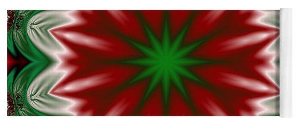 Christmas Flower Yoga Mat