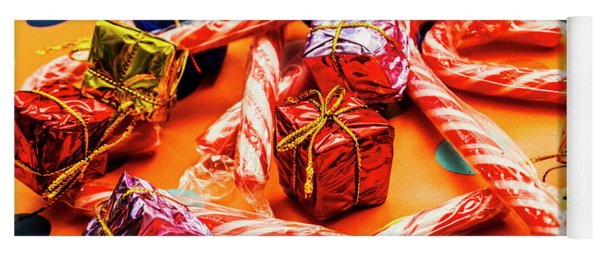 Christmas Holiday Background Yoga Mat