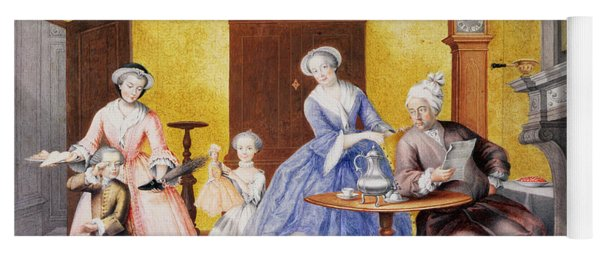Christmas In The Royal Household Of Empress Maria Theresa Of Austria With Family Yoga Mat