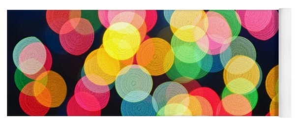 Christmas Lights Abstract Yoga Mat