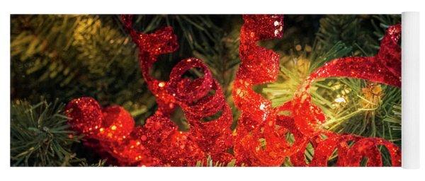 Christmas Red Yoga Mat