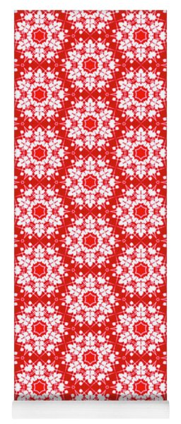 Christmas Snow Flakes Pattern Yoga Mat
