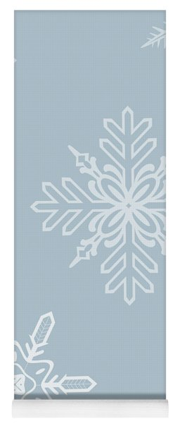 Christmas Snowflakes - No Text  Yoga Mat