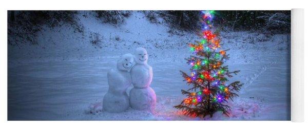 Christmas Spirit At Grouse Creek Yoga Mat