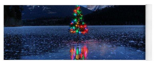 Christmas Spirit On Bull Lake Yoga Mat