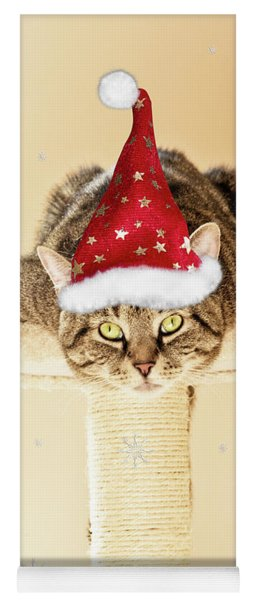 Christmas Splat Cat Yoga Mat
