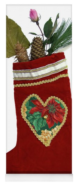 Christmas Stocking With Nature Gifts Yoga Mat