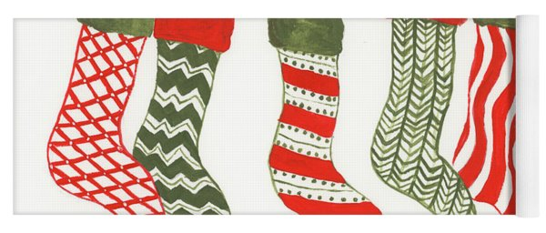 Christmas Stockings Yoga Mat