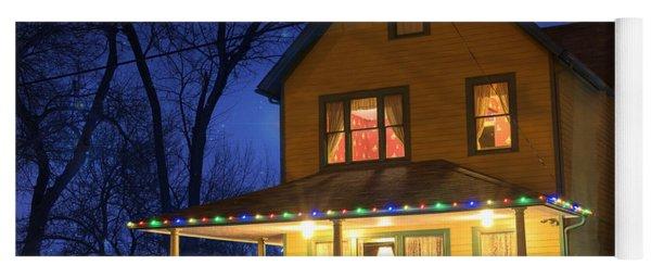 Christmas Story House Yoga Mat