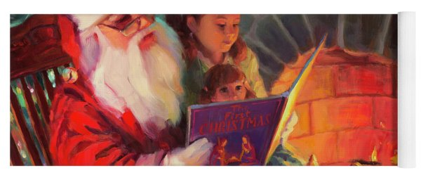 Yoga Mat featuring the painting Christmas Story by Steve Henderson