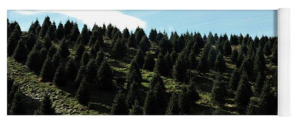 Christmas Tree Farm Yoga Mat
