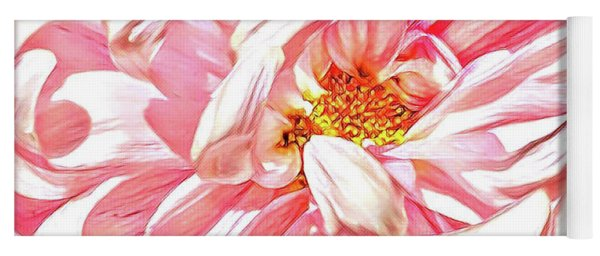 Chrysanthemum In Pink Yoga Mat