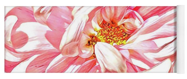 Chrysanthemum In Pink Yoga Mat