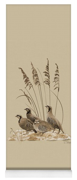 Chukar Partridges Yoga Mat