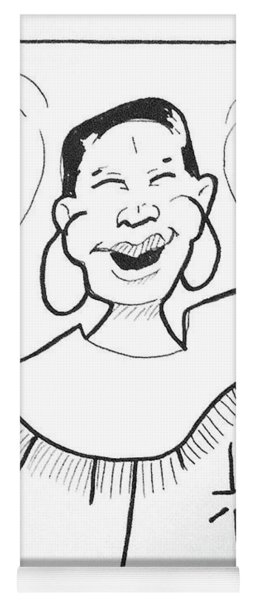 Yoga Mat featuring the drawing Church Lady 2 by Loretta Nash