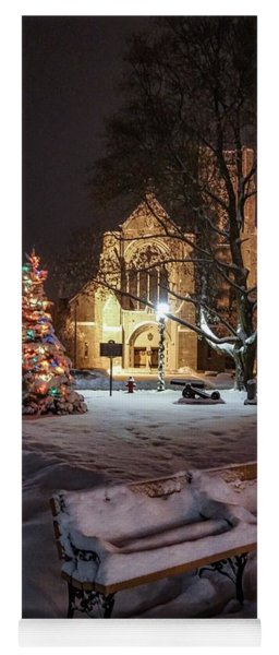 Yoga Mat featuring the photograph Church Of St Mary St Paul At Christmas by Kendall McKernon