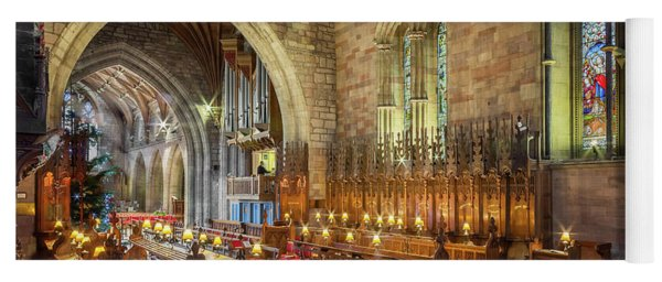 Yoga Mat featuring the photograph Church Organist by Adrian Evans