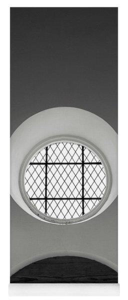 Church Window In Black And White Yoga Mat